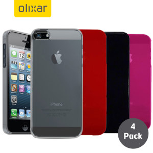 Pack de 4 Fundas iPhone 5S / 5 Olixar FlexiShield