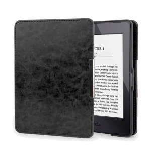 This stylish black genuine leather folio case from Olixar will protect your Kindle Paperwhite from all kinds of knocks. The featured hand strap also makes it very easy to use.