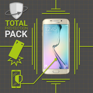 Guard your beautiful Samsung Galaxy S6 Edge from damage with the Olixar Total Protection Pack. Featuring a slim polycarbonate case and an ultra-responsive curved screen protector, this pack provides the ultimate in lightweight protection.