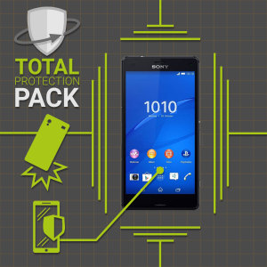 Guard your beautiful Sony Xperia Z3 Compact from damage with the Olixar Total Protection Pack. Featuring a slim polycarbonate case and an ultra-response glass screen protector, this pack provides the ultimate in lightweight protection.