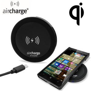 Wirelessly charge your Qi compatible smartphone or tablet 'on the move' with the aircharge Qi Travel Wireless Charging Pad. Also includes US mains adapter.