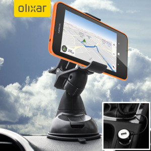 Essential items you need for your smartphone during a car journey all within the Olixar DriveTime In-Car Pack. Featuring a robust one-handed phone car mount and car charger with additional USB port for your Microsoft Lumia 635.