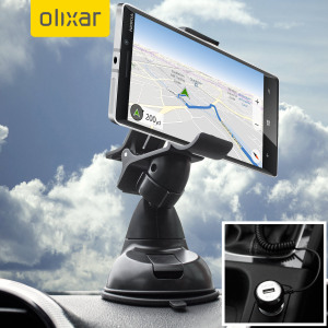 Essential items you need for your smartphone during a car journey all within the Olixar DriveTime In-Car Pack. Featuring a robust one-handed phone car mount and car charger with additional USB port for your Microsoft Lumia 930.