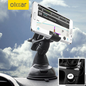 Essential items you need for your smartphone during a car journey all within the Olixar DriveTime In-Car Pack. Featuring a robust one-handed phone car mount and car charger with additional USB port for your Samsung Galaxy Alpha.