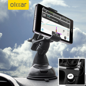 Essential items you need for your smartphone during a car journey all within the Olixar DriveTime In-Car Pack. Featuring a robust one-handed phone car mount and car charger with additional USB port for your Sony Xperia Z1 Compact.