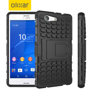 Protect your Sony Xperia Z3 Compact from bumps and scrapes with this black ArmourDillo case. Comprised of an inner TPU case and an outer impact-resistant exoskeleton, the ArmourDillo provides robust protection and supreme styling.