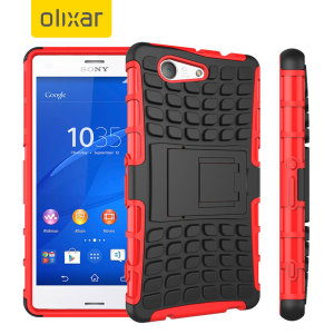 Protect your Sony Xperia Z3 Compact from bumps and scrapes with this red ArmourDillo case. Comprised of an inner TPU case and an outer impact-resistant exoskeleton, the ArmourDillo provides robust protection and supreme styling.