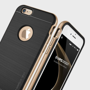 Protect your iPhone 6S with this precisely designed high pro shield series case in champagne gold from Verus. Made with tough dual-layered yet slim material, this hardshell body with a sleek bumper features an attractive two-tone finish.