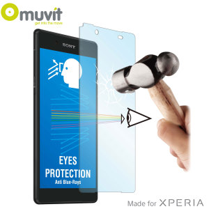 With superb screen protection and rounded edges this premium tempered glass protector from Muvit is the perfect choice for the Sony Xperia Z5 Premium. This  protector also has anti Blue-ray technology built into it.