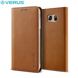 Housse Samsung Galaxy S6 Edge Plus Verus Cuir Véritable - Marron