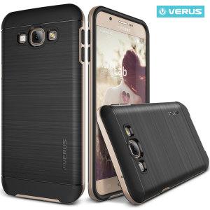 Protégez votre Samsung Galaxy A8 grâce à cette coque en or de la marque Verus. Fabriquée à partir de matériaux solides, cette coque dispose d'une couche rigide et robuste ainsi que d'une finition bicolore attrayante.