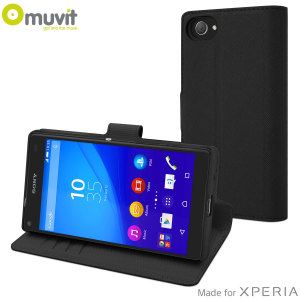 Muvit Wallet Folio MFX Sony Xperia Z5 Compact Case - Black