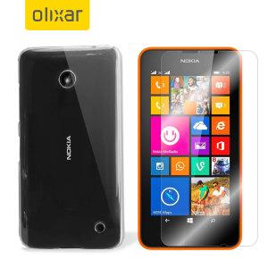 Mantener el Microsoft Lumia 635 protegido es el deseo de cualquier poseedor del mismo. Con este pack de protección total fabricado por Olixar, compuesto por una funda de policarbonato totalmente transparente y un protector de pantalla de cristal templado, mantendrá su teléfono protegido como el primer día.