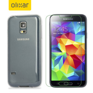 Guard your beautiful Samsung Galaxy S5 Mini from damage with the Olixar Total Protection Pack. Featuring an ultra-slim case and an ultra-response glass screen protector, this pack provides the ultimate in lightweight protection.