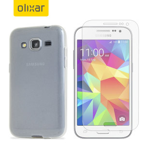 Guard your beautiful Samsung Galaxy Core Prime from damage with the Olixar Total Protection Pack. Featuring an ultra-slim case and an ultra-response glass screen protector, this pack provides the ultimate in lightweight protection.