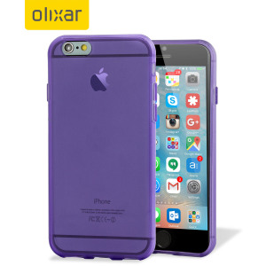 Custom moulded for the iPhone 6S, this purple FlexiShield gel case from Olixar provides excellent protection against damage as well as a slimline fit for added convenience.