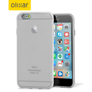 Custom moulded for the iPhone 6S Plus, this frost white FlexiShield gel case from Olixar provides excellent protection against damage as well as a slimline fit for added convenience.