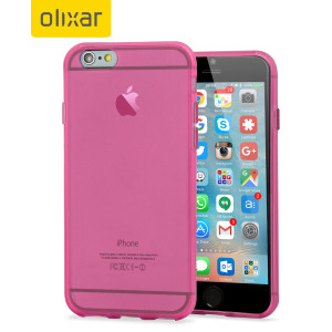 Custom moulded for the iPhone 6S Plus, this pink FlexiShield gel case from Olixar provides excellent protection against damage as well as a slimline fit for added convenience.