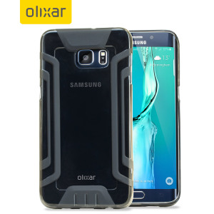 Coque Samsung Galaxy S6 Edge Plus FlexiGrip Gel – Noire