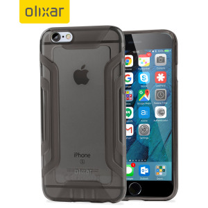 Funda iPhone 6S Plus / 6 Plus FlexiGrip Gel - Negra Ahumada
