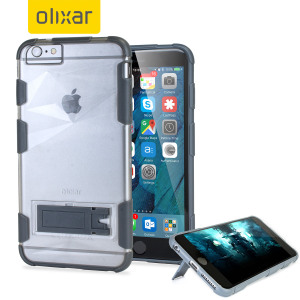 Custom moulded for the iPhone 6S Plus / 6 Plus, this frosted clear ArmourGrip case from Olixar provides superior protection against damage as well as a handy viewing stand. The reinforced frame also increases grip significantly.
