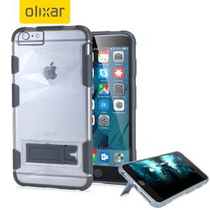 Op maat gegoten voor de iPhone 6S Plus / 6 Plus, deze ArmourGrip case van Olixar biedt superieure bescherming tegen schade, evenals heeft het een handige weergave stand. Het versterkt frame verhoogt ook de grip aanzienlijk.
