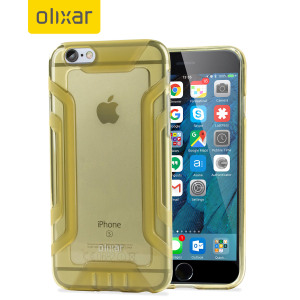 Custom moulded for the iPhone 6S / 6, this gold FlexiGrip gel case from Olixar provides superior protection against damage as well as a slimline fit for added convenience. The reinforced framework also increases grip significantly.