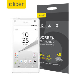 Olixar Sony Xperia Z5 Compact Screen Protector 5-in-1 Pack