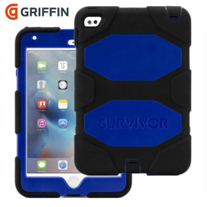 Coque solide iPad Mini 4 Griffin Survivor All-Terrain – Bleue / Noire