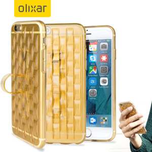 Custom moulded for the iPhone 6S, this gold FlexiLoop gel case from Olixar provides excellent protection and a handy finger loop to keep your phone in your hand, whether from accidental drops or attempted theft.