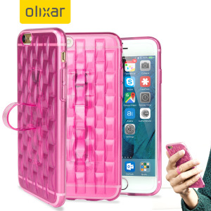 FlexiLoop iPhone 6S Plus Gel Case with Finger Holder - Roze