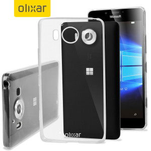 Funda Microsoft Lumia 950 FlexiShield Ultra-Delgada Gel - Transparente