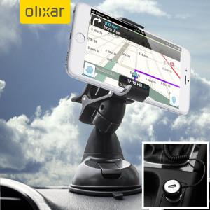 Das Pack enthält wesentliche Elemente, die Sie für Ihr Handy während einer Autofahrt benötigen. Ausgestattet mit einem robusten Autohalterung und einem Autoladegerät mit zusätzlichen USB-Port für Ihr Apple  iPhone 6S Plus.
