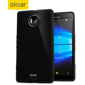 Custom moulded for the Microsoft Lumia 950 XL, this solid black FlexiShield case by Olixar provides slim fitting and durable protection against damage.