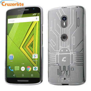 Keep your Motorola Moto X Play protected from damage with this Android-circuitry inspired, durable clear TPU case by Cruzerlite.
