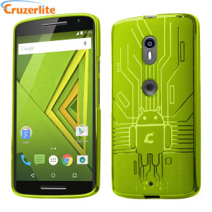 Keep your Motorola Moto X Play protected from damage with this Android-circuitry inspired, durable android green TPU case by Cruzerlite.