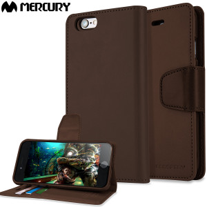 With the perfect blend of elegance, functionality and protection, this luxurious dark brown wallet case is the ideal companion for your iPhone 6S Plus / 6 Plus. Featuring card slots, a document pocket, viewing stand feature and premium soft leather style