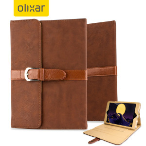 Olixar Vintage iPad Mini 4 Leather-Style Stand Case - Dark Brown