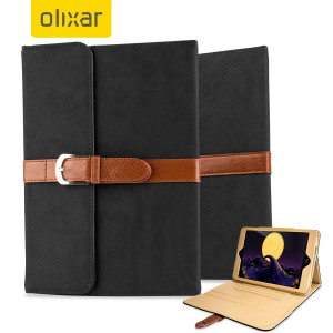 The epitome of vintage charm with all the modern functionality you'll need. This black satchel themed leather-style stand case will protect your iPad Mini 4 perfectly, and the heavy-duty buckle will ensure it will only come out when you want it to.