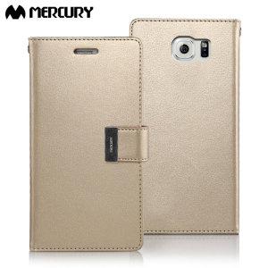 Met deze perfecte mix van elegantie, functionaliteit en bescherming zal deze luxe Wallet case van Mercury de ideale metgezel voor je Samsung Galaxy S6 zijn. Met 5 card slots en een document zak kun je meer bij je dragen.