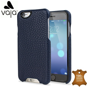 Funda iPhone 6s / 6 Vaja Grip de Cuero - Azul Marino