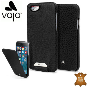 Funda iPhone 6s / 6 Vaja Ivo Top de Cuero con Tapa - Negra