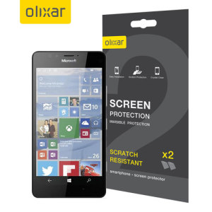 Keep your Lumia 950 screen in pristine condition with this Olixar scratch-resistant screen protector 2-in-1 pack. Ultra responsive and easy to apply, these screen protectors are the ideal way to keep your display looking brand new.
