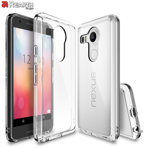 Protect the back and sides your Google Nexus 5x with this incredibly durable and crystal clear backed Fusion Case by Ringke.