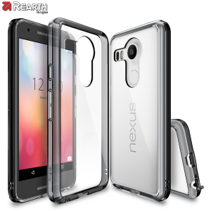 Protect the back and sides your Google Nexus 5x with this incredibly durable and smoke black backed Fusion Case by Ringke.