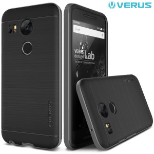 Protect your Nexus 5X with this precisely designed high pro shield series case in steel silver from Verus. Made with tough dual-layered yet slim material, this hardshell body with a sleek bumper features an attractive two-tone finish.