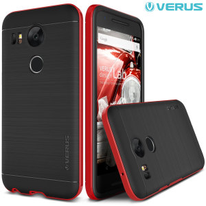 Protect your Nexus 5X with this precisely designed high pro shield series case in crimson red from Verus. Made with tough dual-layered yet slim material, this hardshell body with a sleek bumper features an attractive two-tone finish.