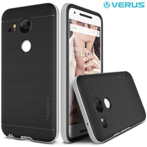 Protect your Nexus 5X with this precisely designed high pro shield series case in satin silver from Verus. Made with tough dual-layered yet slim material, this hardshell body with a sleek bumper features an attractive two-tone finish.