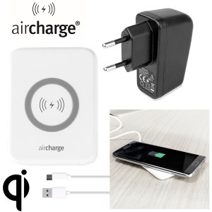 Wirelessly charge your Qi compatible smartphone or tablet with the aircharge Slimline Qi Wireless Charging Pad with EU plug. Extremely discrete and portable, the Slimline enables you to easily charge wirelessly in any environment.