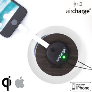 The aircharge Wireless Charging Receiver attaches to the Lightning port of your iPhone, allowing you to charge your device on any Qi compatible charging station. With 'Made for iPhone' certification, you can be sure of perfect compatibility.